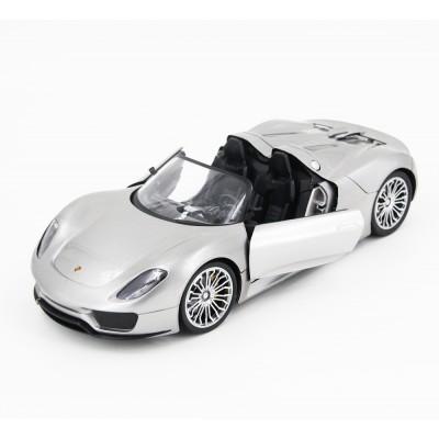 Радиоуправляемая машина Porsche 918 Spider Silver 1:14 - 2246J-S