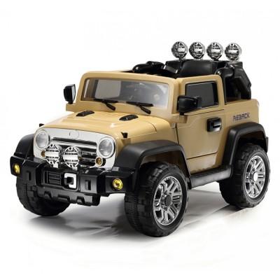 Радиоуправляемый детский электромобиль JJ235A Beach Jeep Khaki 12V - JJ235A-K