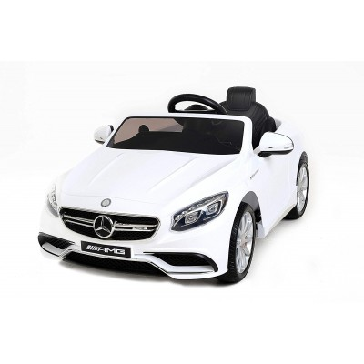 Детский электромобиль Mercedes Benz S63 LUXURY 2.4G - White - HL169-LUX-W