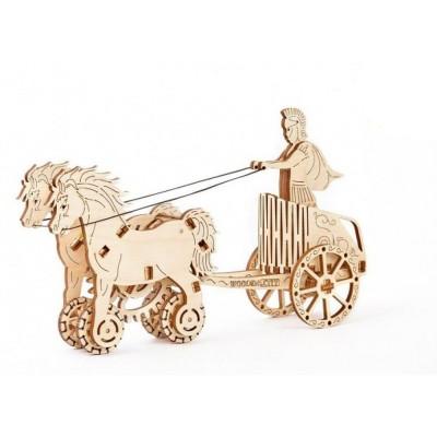 Деревянный механический 3D-пазл Wooden City Римская колесница - WR301