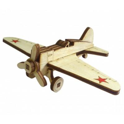 Конструктор 3D деревянный подвижный Lemmo Советский самолет И-15 - И-15
