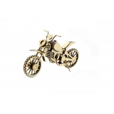 Конструктор 3D деревянный подвижный Lemmo Мотоцикл Кросс - МЦ-4