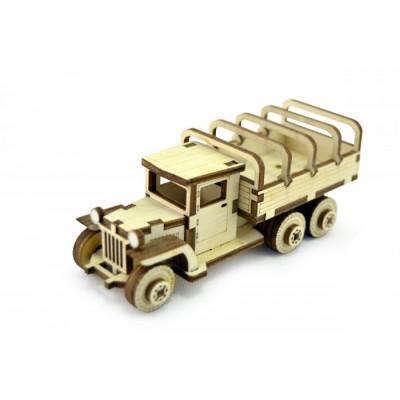 Конструктор 3D деревянный подвижный Lemmo Советский грузовик ЗИС-5вп - ЗИС-4