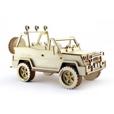 Конструктор 3D деревянный подвижный Lemmo Внедорожник Триал - АВ-2