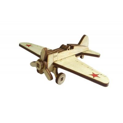 Конструктор 3D деревянный подвижный Lemmo Советский истребитель И-16 - И-16