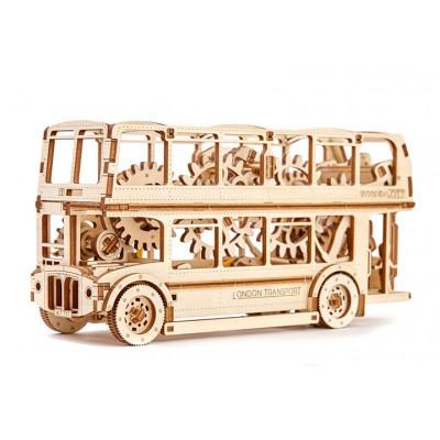 Деревянный механический 3D-пазл Wooden City Лондонский автобус - WR303