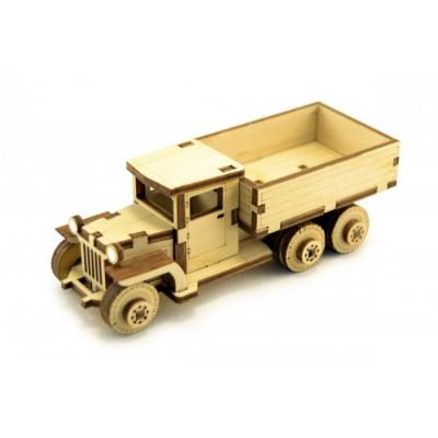 Конструктор 3D деревянный подвижный Lemmo Советский грузовик ЗИС-5В - ЗИС-2
