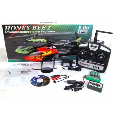 Радиоуправляемый вертолет E-sky Honey Bee V2 - 2.4G - 002435
