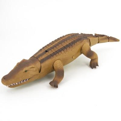 Радиоуправляемый коричневый крокодил со световым автоматом RuiCheng - 9985B-B