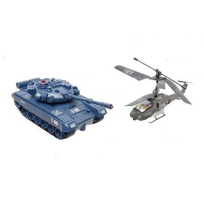 Радиоуправляемый набор танк + вертолет с гироскопом - JD803