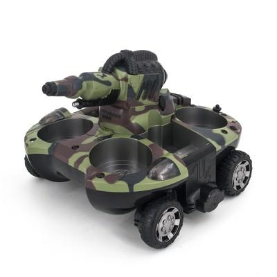 Радиоуправляемый танк-амфибия, стреляющий водой 2.4G - YED-24883A