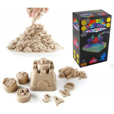 Живой кинетический песок 3 пачки по 400 г + формочки цвета микс