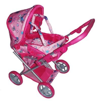 Коляска для кукол Melogo Розовый с малиновым