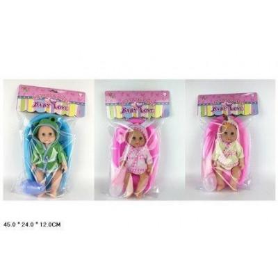 Кукла-пупс Baby Love с ванночкой и аксессуарами