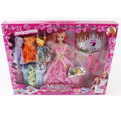 Кукла с аксессуарами и диадемой