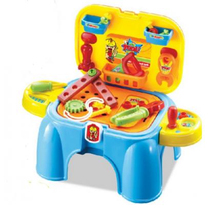Игровой набор инструментов 3-в-1 стул, ящик для хранения, чемодан