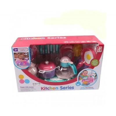 Набор посуды для детей Завтрак (плита, посуда,продукты)
