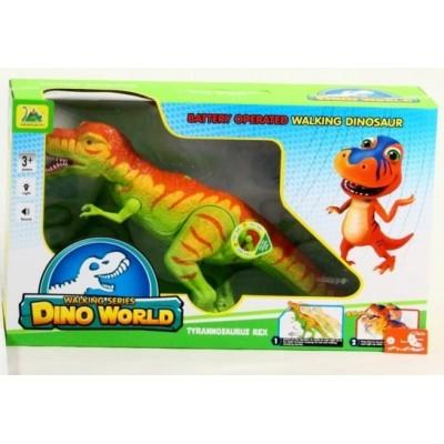 Динозавр ходячий Dino World на батарейках