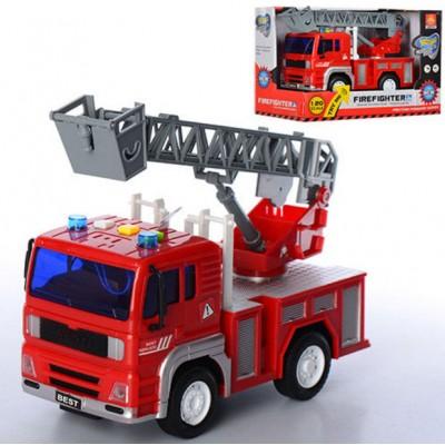 Инерционная Пожарная машина с лестницей