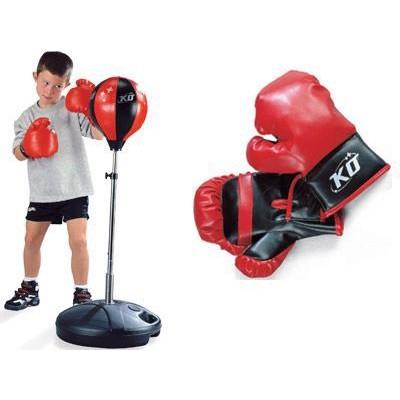 Груша боксерская с перчатками, на подставке