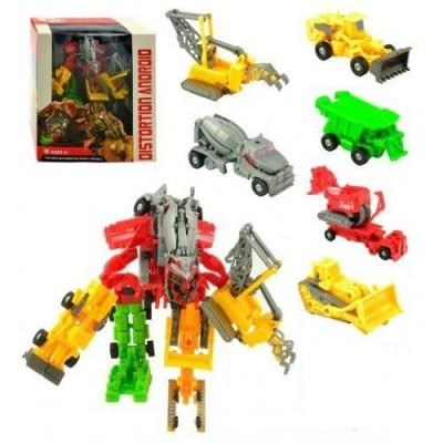"""Трансформер (Робот и 7 видов машинок """"Спецтехника"""")"""