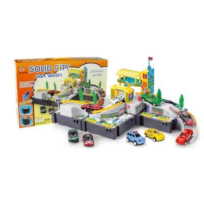 """Игровой набор """"Автомойка - парковка"""",с машинки и аксессуары"""