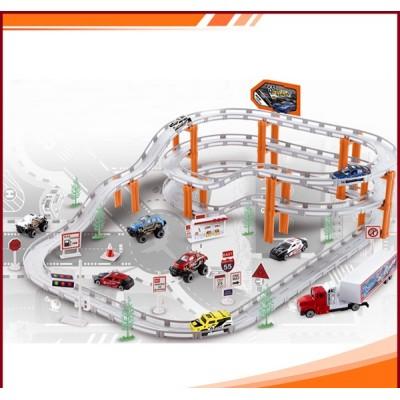 Игровой набор Гонки со скоростными спусками, металл. машинки, 29 деталей