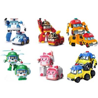 6 Машинок-трансформеров Робокар Рой, Поли, Хелли, Эмбер, Марк, Баки (Robocar Poli)