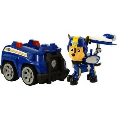 Игрушка Щенячий патруль (Paw Patrol) — Гонщик воздушный спасатель с рюкзаком трансформером и Полицейская машина