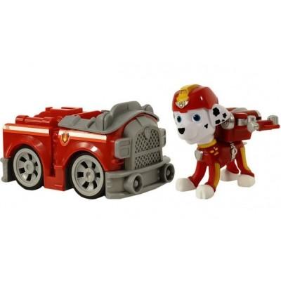 Игрушка Щенячий патруль (Paw Patrol) — Маршал воздушный спасатель с рюкзаком трансформером и Пожарная машинка