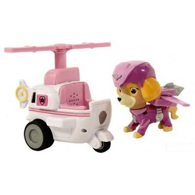 Игрушка Щенячий патруль (Paw Patrol) — Скай воздушный спасатель с рюкзаком трансформером и Вертолет
