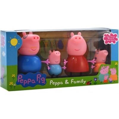 Набор игрушек Свинка Пеппа — Peppa & Family 4 фигурки