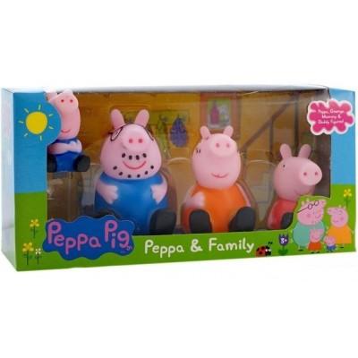 Набор игрушек Свинка Пеппа — Peppa & Family (sitting) 4 фигурки