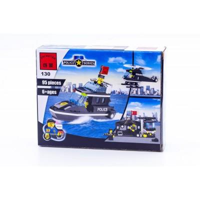Детский конструктор Brick «Полицейский катер»