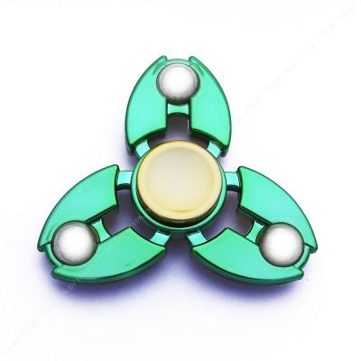 Cпиннер хромированный, сбалансированный (зеленый)