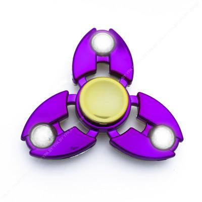 Cпиннер хромированный, сбалансированный (фиолетовый)