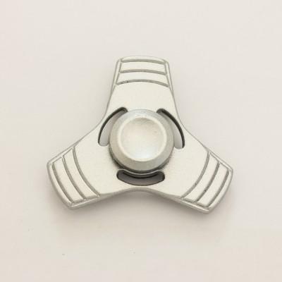 Спиннер серебряный металлический