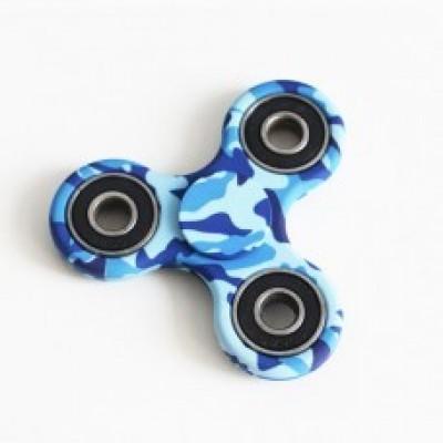 Cпиннер камуфляж синий синий с 3D печатью