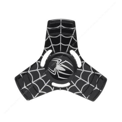 """Спиннер металлический """"человек паук"""" / черный"""